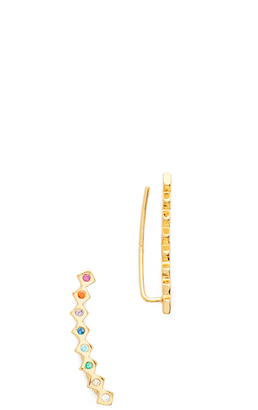 Gorjana Ryder Shimmer Ear Crawlers $55 thestylecure.com