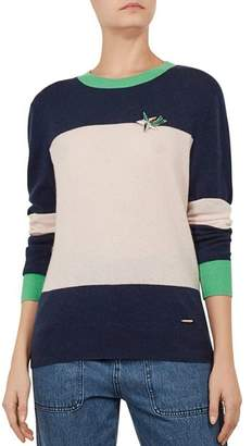 Ted Baker Colour by Numbers Bryonny Color-Block Cashmere Sweater
