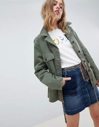 Tommy Hilfiger Utility Jacket With Hiker Lace Waist Detail