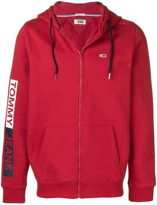 Tommy Jeans logo zipped hoodie