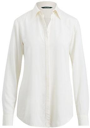 Ralph Lauren Lauren Button-Down Shirt $89.50 thestylecure.com