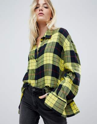 Cheap Monday flannel check shirt in plaid