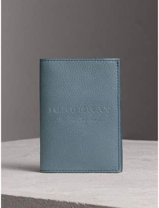 Burberry Embossed Leather Passport Holder