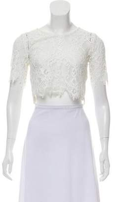 Alexis Lace Short Sleeve Crop Top