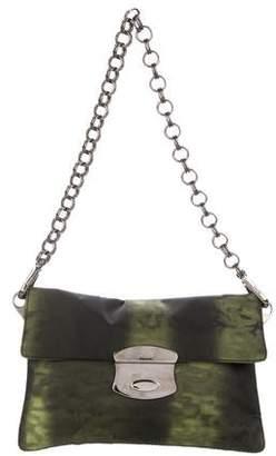 Prada Printed Tessuto Chain-Link Bag