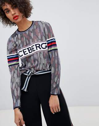 Iceberg MULTICOLOR Logo Long Sleeve Top