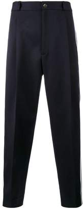 Gucci striped cropped trousers