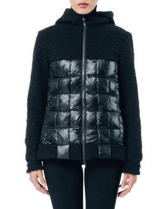 SNOWMAN New York Puzzle Knit-Hood Box-Quilt Jacket