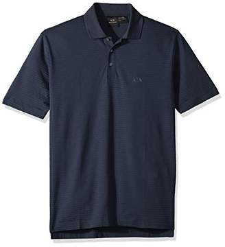 Armani Exchange A|X Men's Short-Sleeved Cotton Jersey Classic Button Collar Polo Shirt