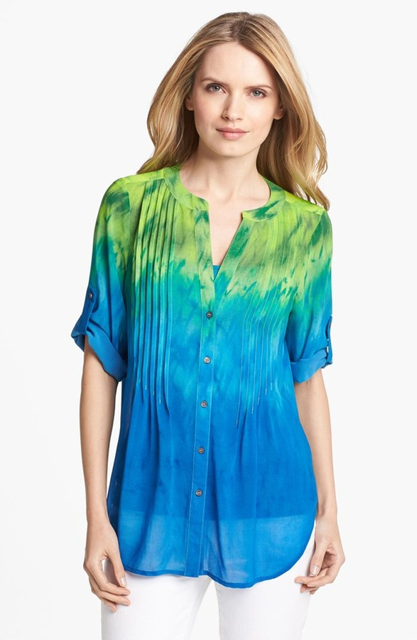 Chaus Ombre Chiffon Blouse (Online Only)