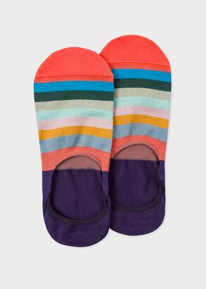Paul Smith Men's Purple 'Artist Stripe' Loafer Socks