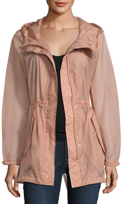 Marc New York by Andrew Marc Teri Translucent Rain Jacket, Pink $125 thestylecure.com