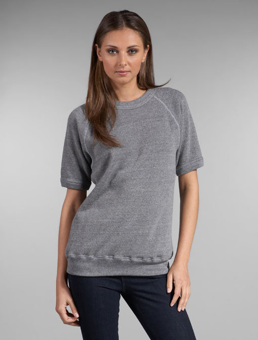 Alternative Apparel The Gym Rat Short Sleeve Eco-Fleece Raglan