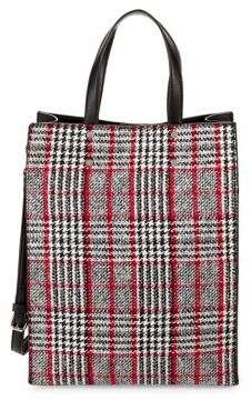 Design Lab North-South Plaid Tote