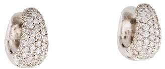 Roberto Coin 18K Diamond Pavé Hoop Earrings