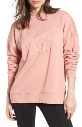 Ivy Park R) Embossed Logo Crew Sweatshirt