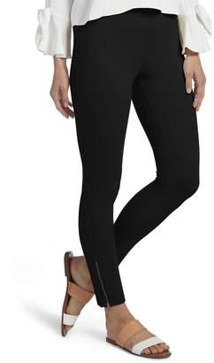 Hue Woen's Ankle Zip Siply Stretch Twill Skier Leggings, Ankle Zip-Sandbar