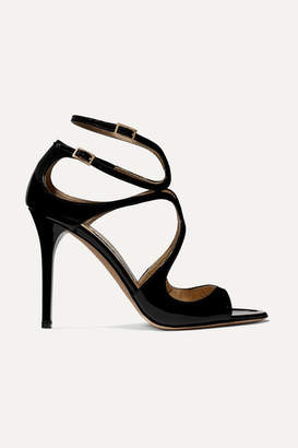 Jimmy Choo Lang 100 Patent-leather Sandals - Black