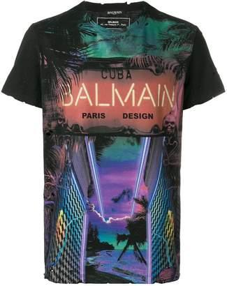 Balmain Neon Cuba T-shirt