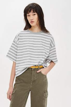 Topshop Striped Boxy T-Shirt
