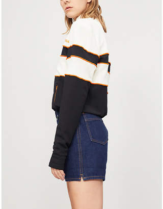 House of Holland Missy panelled stretch-jersey jacket