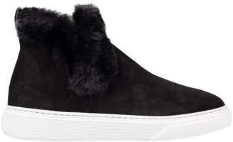 Hogan Fur Detail Hi-top Sneakers