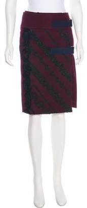 Sacai Embroidered Wool Skirt w/ Tags