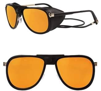 Vuarnet Glacier 57mm Aviator Sunglasses