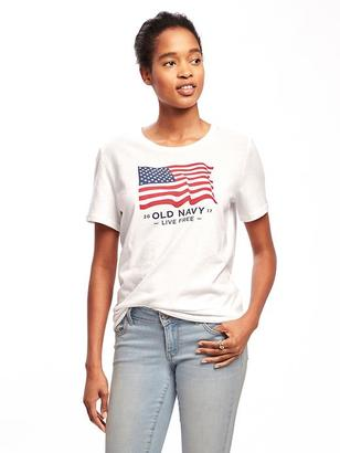 Relaxed 2017 Flag-Graphic Tee for Women $5 thestylecure.com