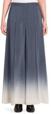 Stella McCartney Darci Degrade Silk Flare Trousers