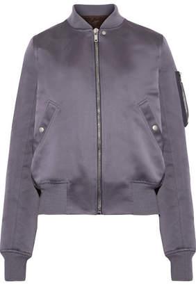 Rick Owens - Duchesse-satin Bomber Jacket - Gray $1,765 thestylecure.com