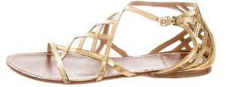 Tory Burch Leather Flat Sandals
