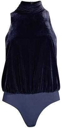 Joie Ryona Velvet Sleeveless Bodysuit