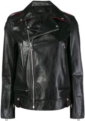 Joseph off-centre zipped jacket