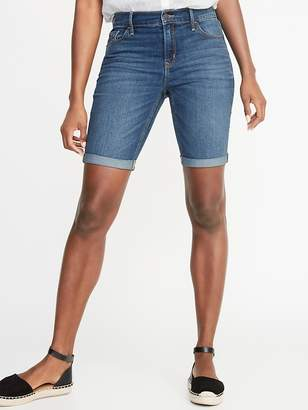 Old Navy Mid-Rise Slim Denim Bermudas for Women - 9-inch inseam