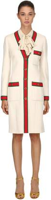 Gucci Wool V-Neck Coat
