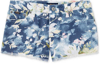 Polo Ralph Lauren Floral-Print Cotton Denim Shorts, Big Girls