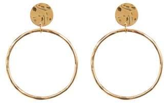 Soko Hammered Open Front-Facing Hoop Earrings