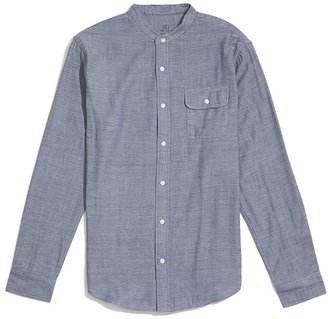 JackThreads Banded Collar Double Face Shirt $49 thestylecure.com