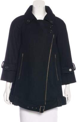 Derek Lam Wool Asymmetrical Coat