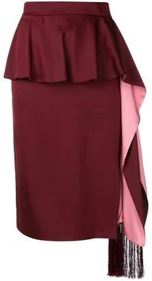 Alexander McQueen pleated layered midi skirt