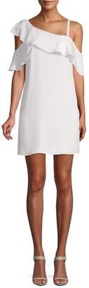Rachel Roy Women's Asymmetrical Ruffle Trapeze Dress