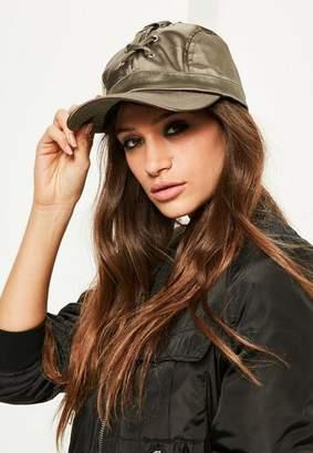 Missguided Khaki Lace Up Cap