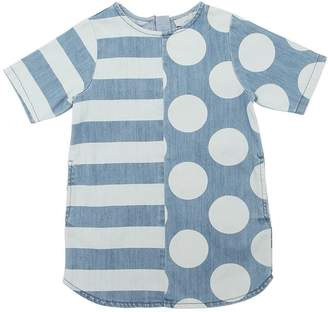 Stella McCartney Strips & Polka Dots Stretch Denim Dress