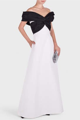Carolina Herrera Off Shoulder Twist Gown