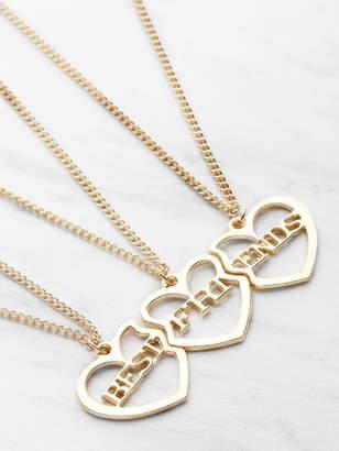 83c5ce2fcd Shein Heart Shaped Friendship Necklace 3pcs