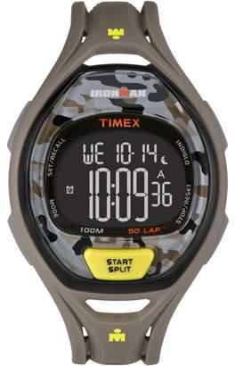 Timex Men's Ironman Sleek 50 Camo Watch, gray Resin Strap