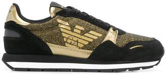 Emporio Armani glitter detail sneakers