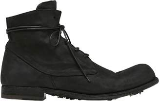 Officine Creative Washed Horse Leather Lace-Up Boots