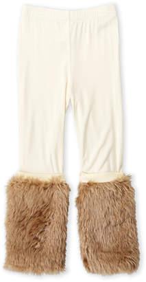 Baby Sara Girls 4-6x) Faux Fur Leggings